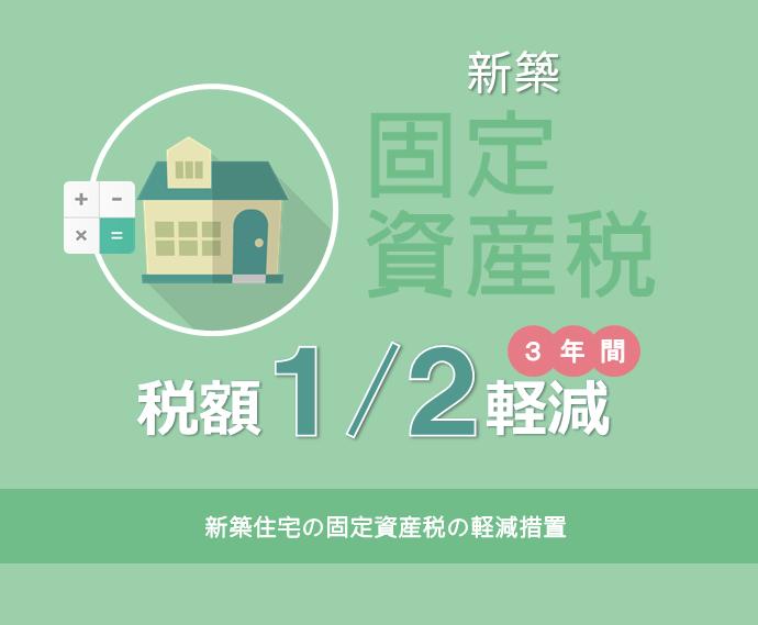 新築住宅の固定資産税の軽減措置