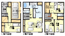 3階建ての間取り図集