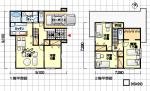 使いやすい家の間取り図 カーポート付 東玄関 4LDK 36坪