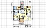 動きやすく家事のしやすい間取り – 坪数を抑えた介護向きプラン - 平屋、北玄関、2LDK、19坪