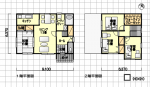 独立キッチンの小さく無駄の無い間取り 南玄関 4LDK 30.5坪の間取り図