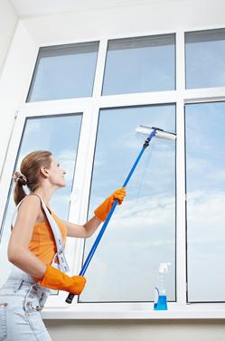 平屋の窓清掃状況
