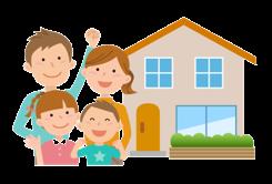 住宅を取得する4人家族
