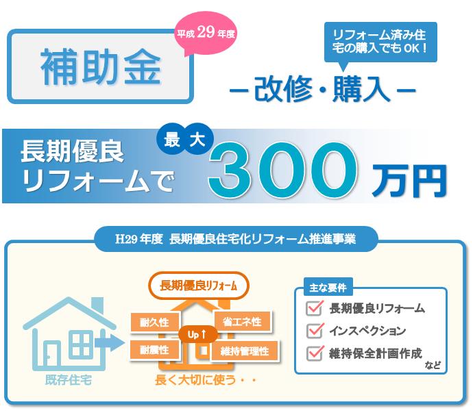 平成29年度の長期優良住宅化リフォーム推進事業
