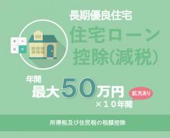 長期優良住宅 住宅ローン減税 年間最大50万円控除