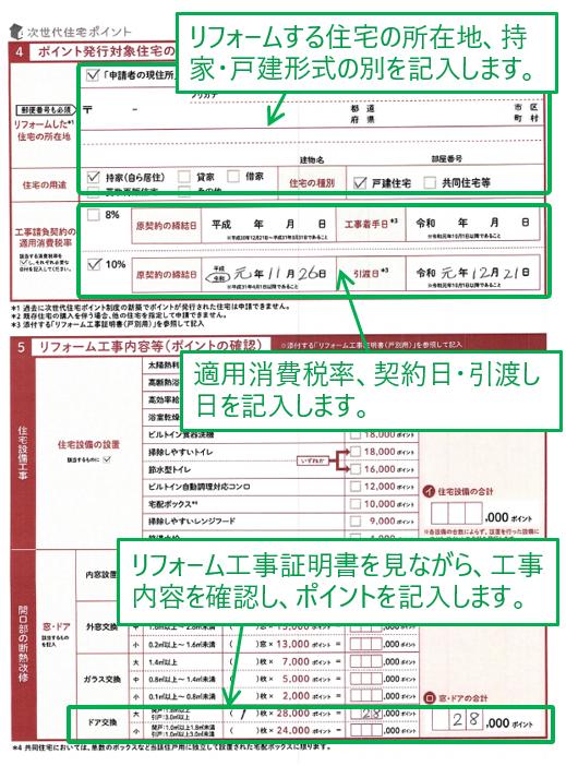 ポイント発行申請書 3枚目